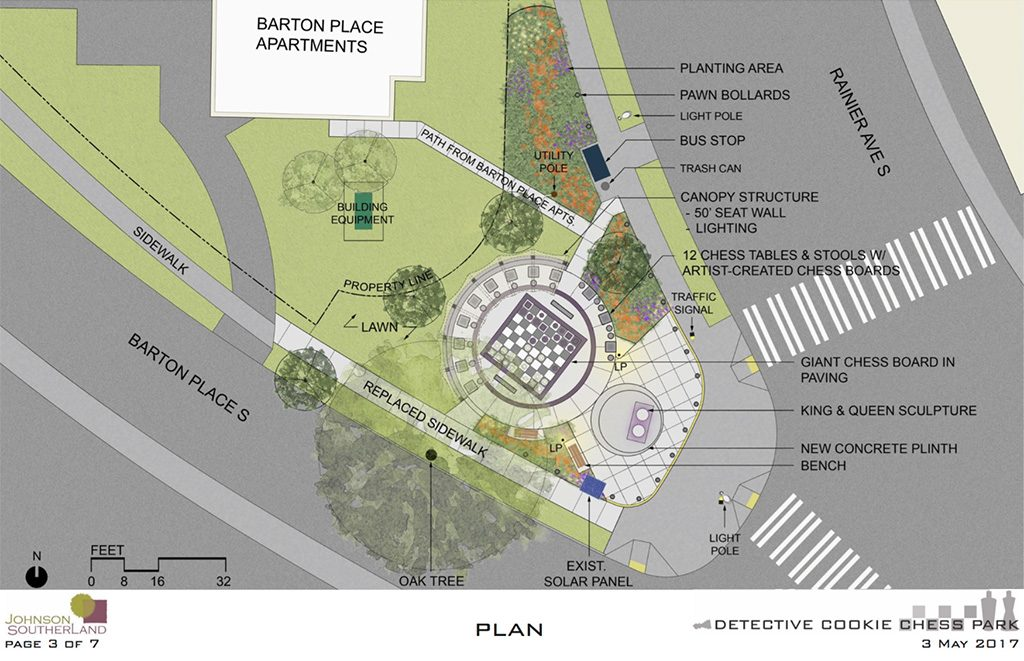 Drawing of park design